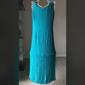 VTG 90s Aqua Textured Sleeveless Maxi Dress